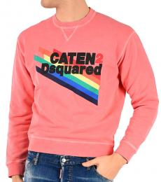 Coral Printed Crewneck Sweatshirt