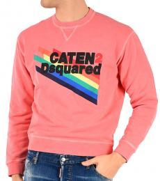 Dsquared2 Coral Printed Crewneck Sweatshirt