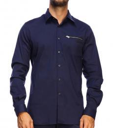 Prada Navy Blue Logo Shirt