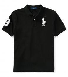 Ralph Lauren Boys Black Mesh Polo