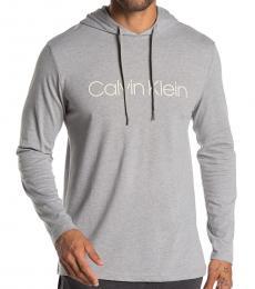 Calvin Klein Wolf Grey Long Sleeve Hoodie