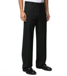 Black Tailored Straight-Leg Trousers