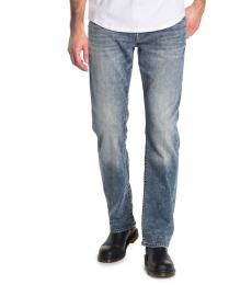 True Religion Blue Ricky Relaxed Straight Leg Jeans