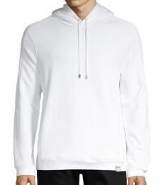 White Logo Embroidered Jacket