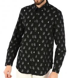 Diesel Black Printed Rabbit Shirt