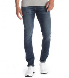 7 For All Mankind Blue Paxtyn Luxe Skinny Jeans