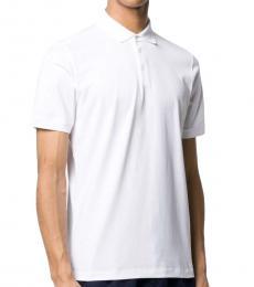 White Short Sleeved Polo