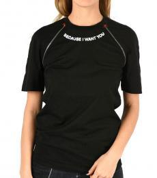 Black Cotton Renny Fit T-Shirt