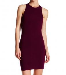 Cherry Jenn Ribbed Bodycon Dress