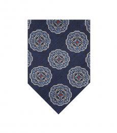 Navy Melange Medallion Tie
