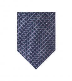 Michael Kors Purple Nigel Contrast Pattern Tie