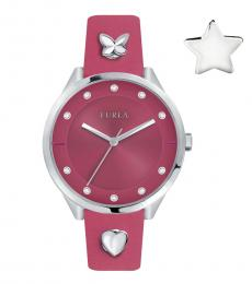 Furla Pink Logo Watch