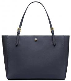 Tory Burch Navy Emerson Small Buckle Large Tote