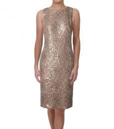 Ralph Lauren Golden Metallic Sequined Dress