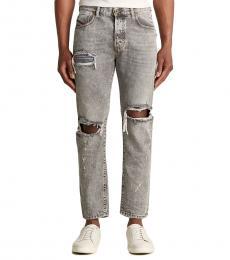 Light Grey Mharky Slim Fit Jeans