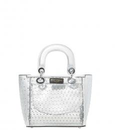 Betsey Johnson Silver Take Me To The Prom Mini Satchel