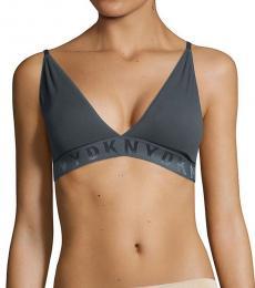 DKNY Graphite Seamless Ribbed Bralette
