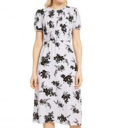Michael Kors Lavender Mist Floral Print Midi Dress