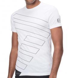 Emporio Armani White Front Logo T-Shirt