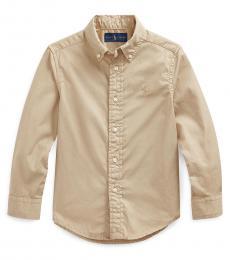 Ralph Lauren Little Boys Khaki Twill Shirt