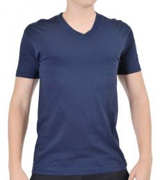 Navy Short Sleeves Basic Tee