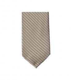 Brown Dapper Geo Slim Silk Tie