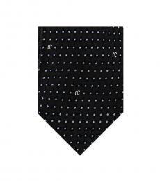 Black Micro Geometric Tie