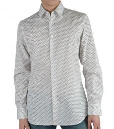Off White Long Sleeve Dress Shirt