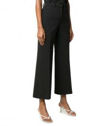 Givenchy Black Wool Wide Leg Trouser