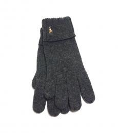 Grey Wool Cuff Gloves