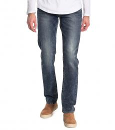 True Religion Blue Geno Relaxed Slim Jeans