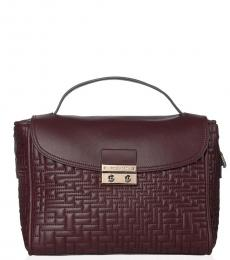 Cherry Lock Quilted Small Satchel