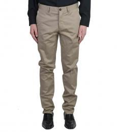 Khaki Brown Casual Pants