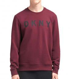 DKNY Wine Tasting Logo Fleece Pullover