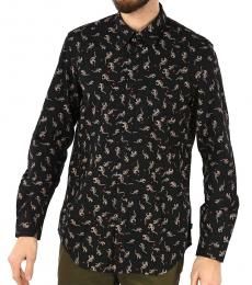 Black Printed Dinosau Shirt