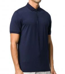 Navy Blue Signature Pique Polo