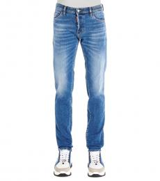 Blue High Casual Fit Jeans