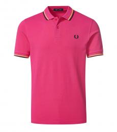 Fuchsia Logo Patch Polo