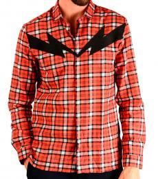 Red Checked Thunder Shirt