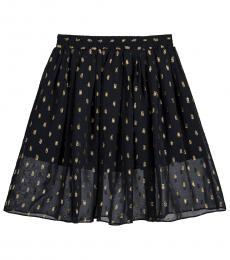 Little Girls Black Amalie Skirt
