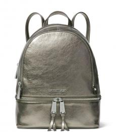 Michael Kors Anthracite Rhea Zip Medium Backpack