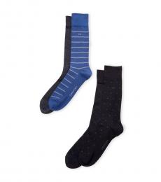 Navy Blue 4-Pack Classic Crew Socks