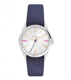 Furla Blue Silver Dial Watch