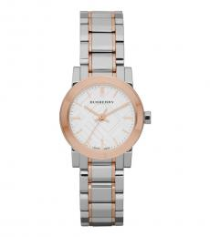Burberry Silver Two Tone City Watch