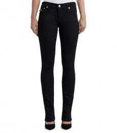True Religion Body Rinse Black Crystal Embellished Straight Jeans