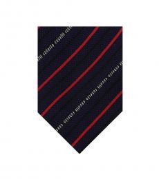Navy Blue Regimental Stripe Tie