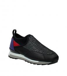 Hogan Black Red Slip On Sneakers
