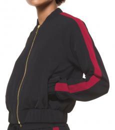 Michael Kors Black Striped Track Jacket