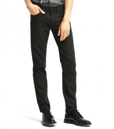 Black Slim Twill Jeans