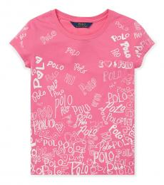 Girls Pink Graphic T-Shirt